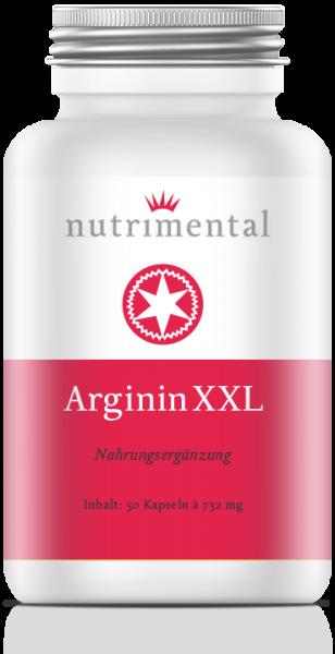 Arginin XXL mit 600mg L-Arginin pro Kapsel